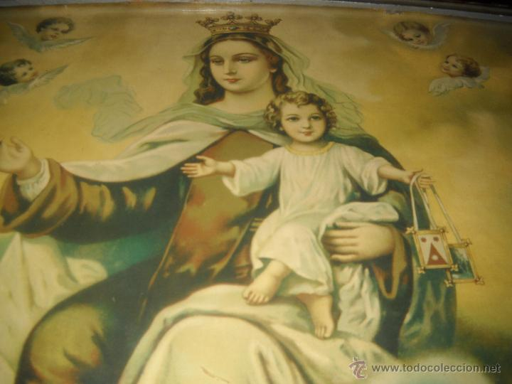 Arte: ANTIGUA LITOGRAFIA ENMARCADA,AÑOS 30,VIRGEN CON NIÑO JESUS. - Foto 4 - 40037183