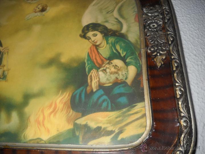 Arte: ANTIGUA LITOGRAFIA ENMARCADA,AÑOS 30,VIRGEN CON NIÑO JESUS. - Foto 5 - 40037183