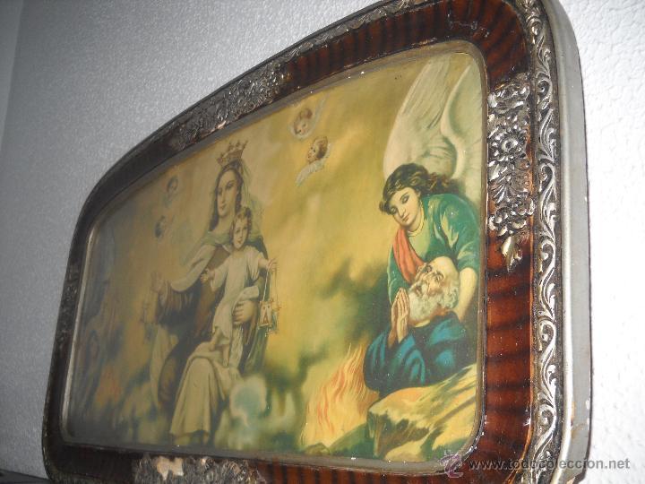 Arte: ANTIGUA LITOGRAFIA ENMARCADA,AÑOS 30,VIRGEN CON NIÑO JESUS. - Foto 7 - 40037183