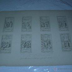Arte: S.XIX - GRABADO LITOGRAFICO ORIGINAL - GLORIAS DE LA VIDA DE SAN AMBROSIO. Lote 40052382