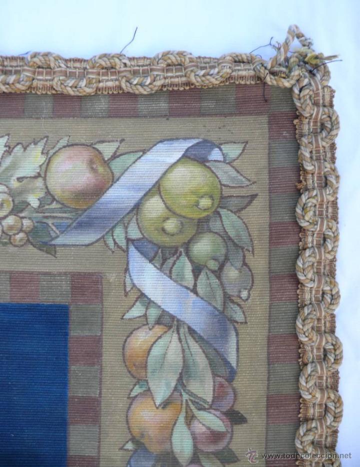 Arte: FABULOSO TAPIZ OLEO IGLESIA QUERUBIN ANGEL RELIGIOSO A RENAU 57 TELA PINTURA ANTIGUO ANTIGUA - Foto 4 - 40069355