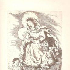 Arte: LA MARE DE DÉU DEL MONT - AIGUAFORT D'IRENE COLL. Lote 40175870