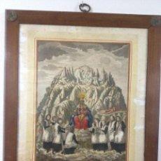 Arte: GRABADO COLOREADO DE NSTRA. SÑRA. DE MONTSERRAT. Lote 40232801