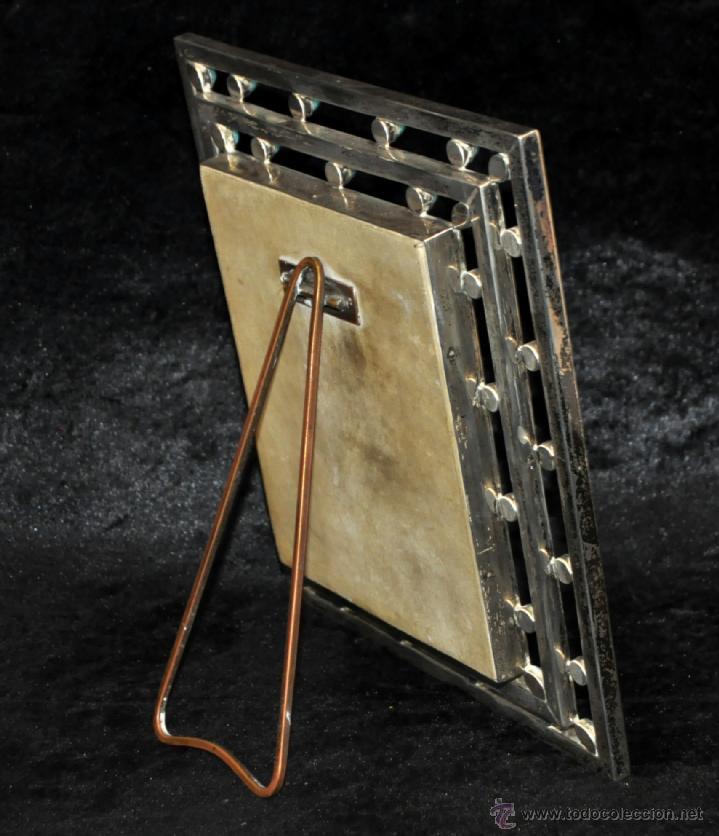 Arte: MANUEL BLANXART. ESMALTE ENMARCADO EN PLATA Y DECORADO EN PIEDRA LARIMAR - Foto 3 - 40264774