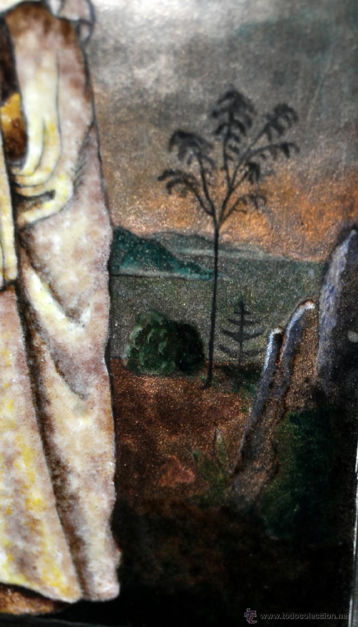 Arte: MANUEL BLANXART. ESMALTE ENMARCADO EN PLATA Y DECORADO EN PIEDRA LARIMAR - Foto 8 - 40264774