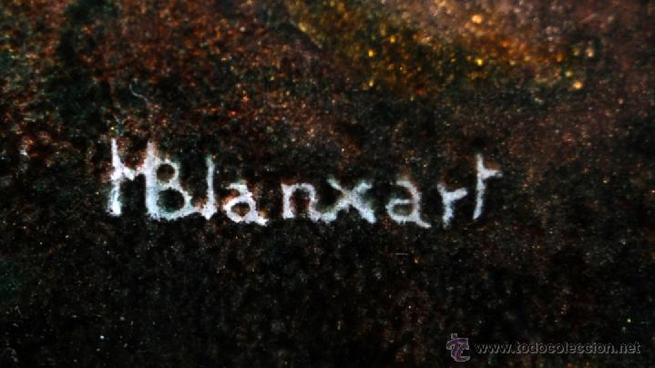 Arte: MANUEL BLANXART. ESMALTE ENMARCADO EN PLATA Y DECORADO EN PIEDRA LARIMAR - Foto 11 - 40264774