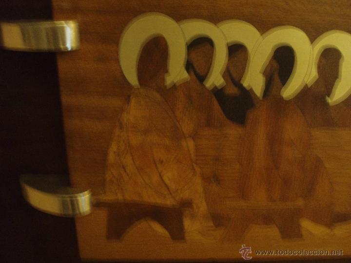Arte: Magnífica Santa Cena en marquetería - Foto 4 - 40380796