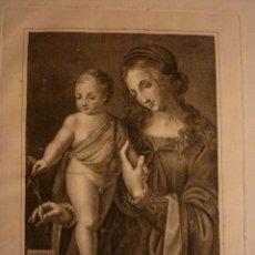 Arte: LEONARDO DA VINCI, GRABADO POR JOSEF GOMEZ DE NAVIA 1784.. Lote 40388643