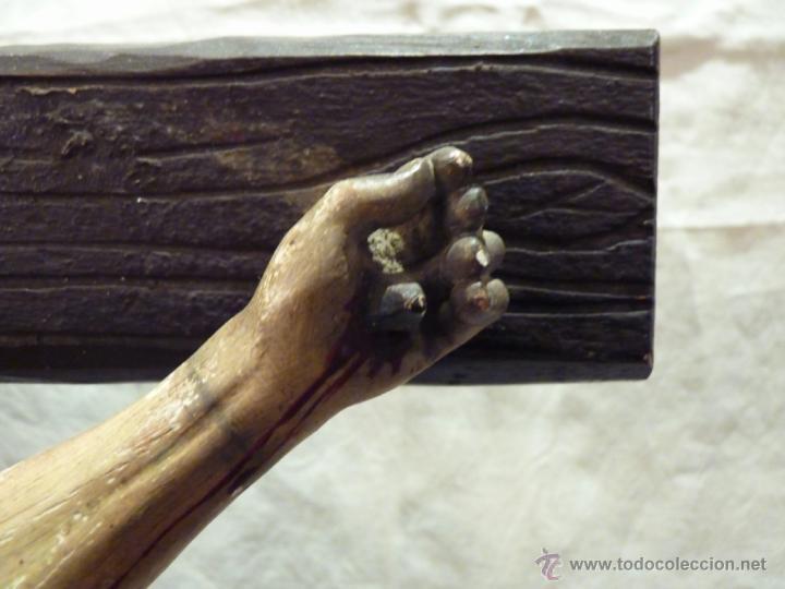 Arte: TALLA EN MADERA DE CRISTO EN LA CRUZ. SIGLO XIX. - Foto 3 - 40389472