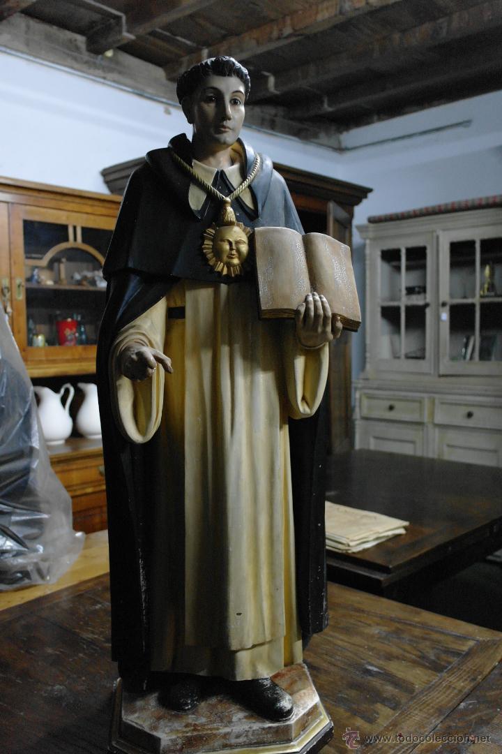 TALLA DE SANTO TOMAS DE AQUINO PRINCIOS SIGLO XX (Arte - Arte Religioso - Escultura)