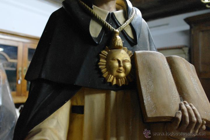 Arte: talla de santo tomas de aquino princios siglo xx - Foto 2 - 40480394