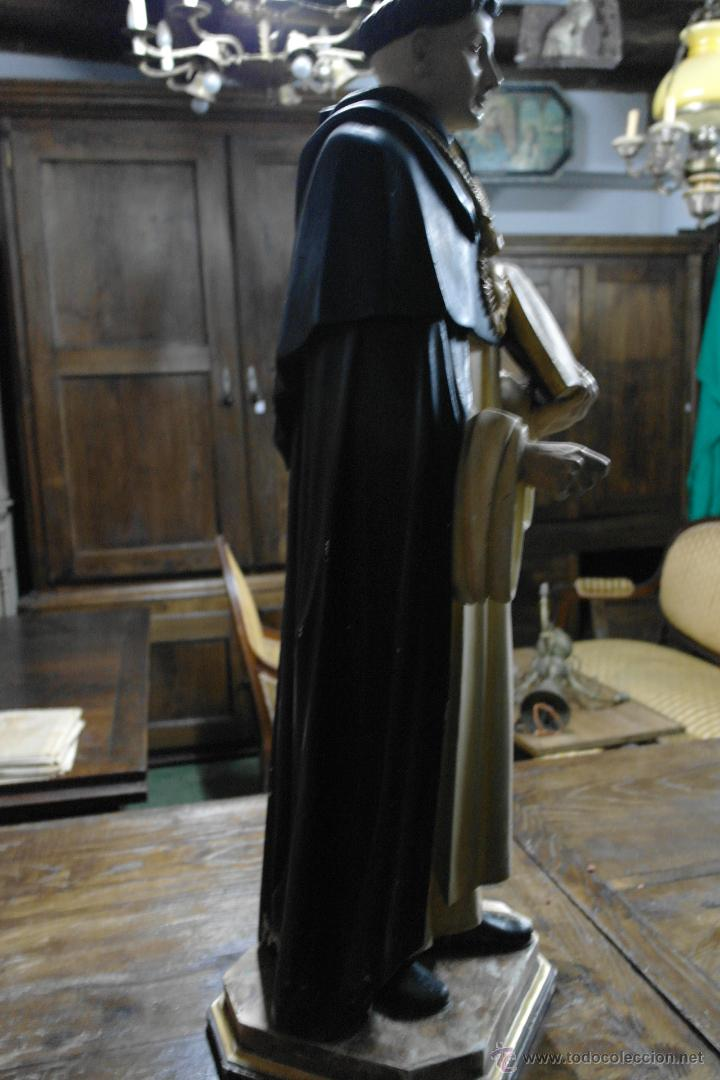 Arte: talla de santo tomas de aquino princios siglo xx - Foto 6 - 40480394