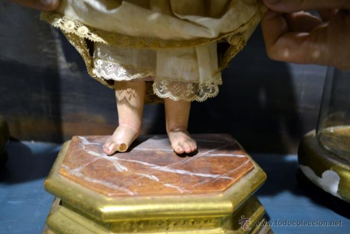 Arte: MAGNIFICO NIÑO JESUS DE VESTIR O CAP Y POTA. S. XIX - Foto 8 - 40519986
