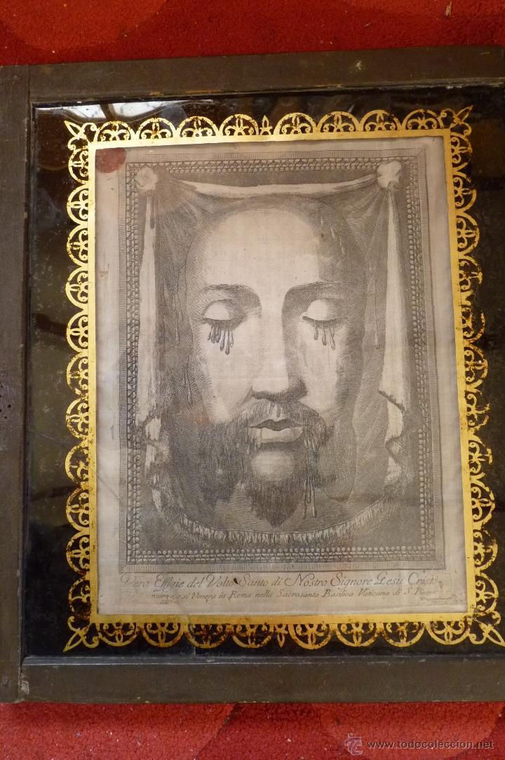 Arte: IMPRESIONANTE GRABADO EN SEDA SIGLO XIX ROSTRO DE CRISTO SERIE LIMITADA BASÍLICA DE ROMA LACRADO - Foto 12 - 40543467