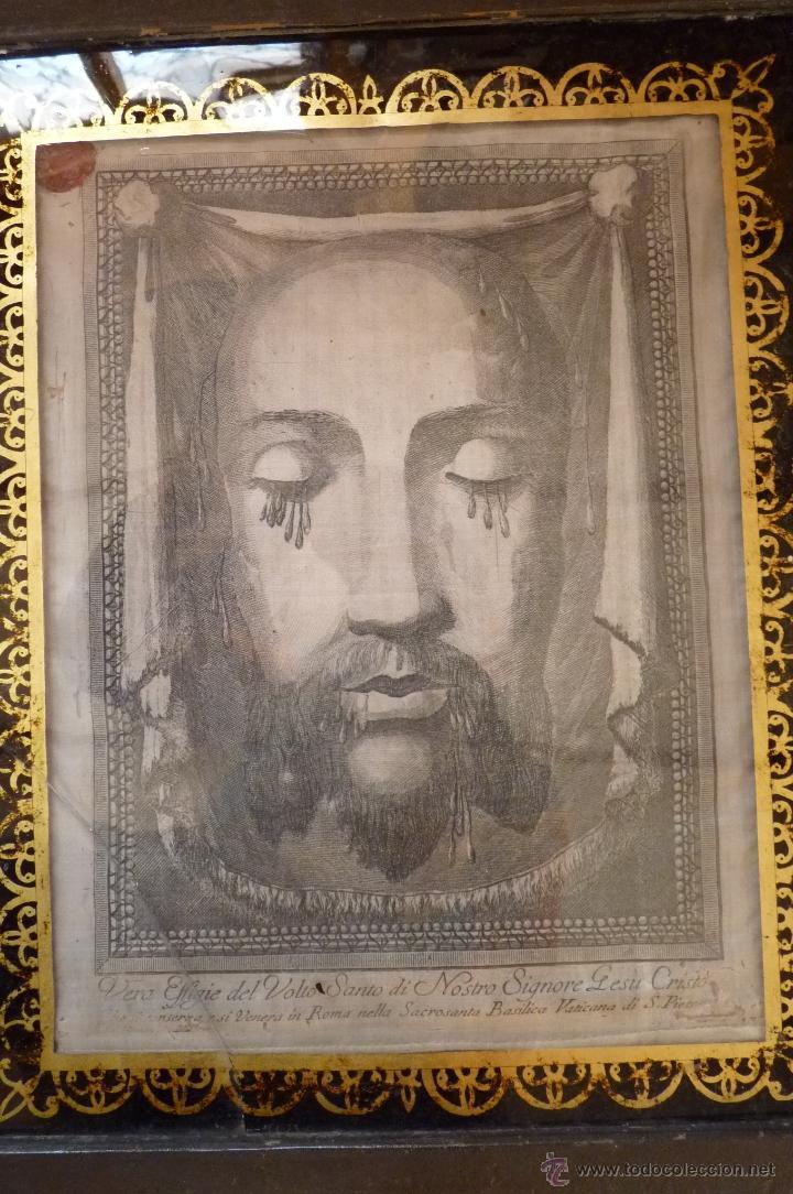 Arte: IMPRESIONANTE GRABADO EN SEDA SIGLO XIX ROSTRO DE CRISTO SERIE LIMITADA BASÍLICA DE ROMA LACRADO - Foto 13 - 40543467