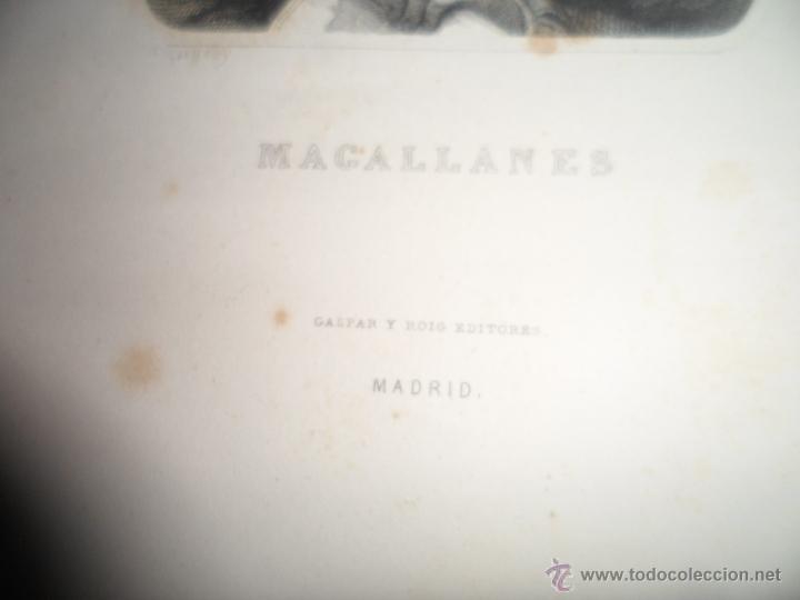 Arte: Magallanes. Litografia siglo 19 - Foto 4 - 40576832