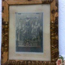 Arte: SIGLO XIX-XX, ANTIGUO MARCO CON IMAGEN DE CRISTO.. Lote 40638442