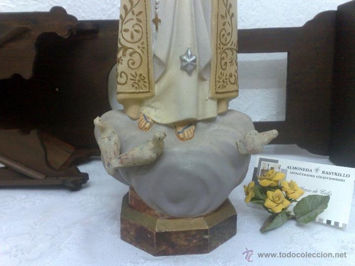 Arte: VIRGEN DE FATIMA. PRECIOSA IMAGEN DE LA VIRGEN CON SU CAPILLA EN MADERA. - Foto 16 - 40652237