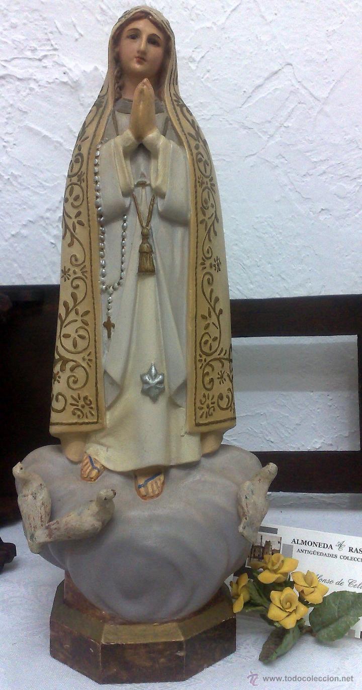 Arte: VIRGEN DE FATIMA. PRECIOSA IMAGEN DE LA VIRGEN CON SU CAPILLA EN MADERA. - Foto 19 - 40652237