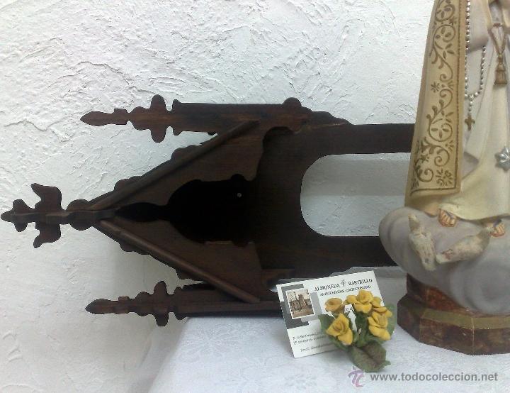 Arte: VIRGEN DE FATIMA. PRECIOSA IMAGEN DE LA VIRGEN CON SU CAPILLA EN MADERA. - Foto 20 - 40652237