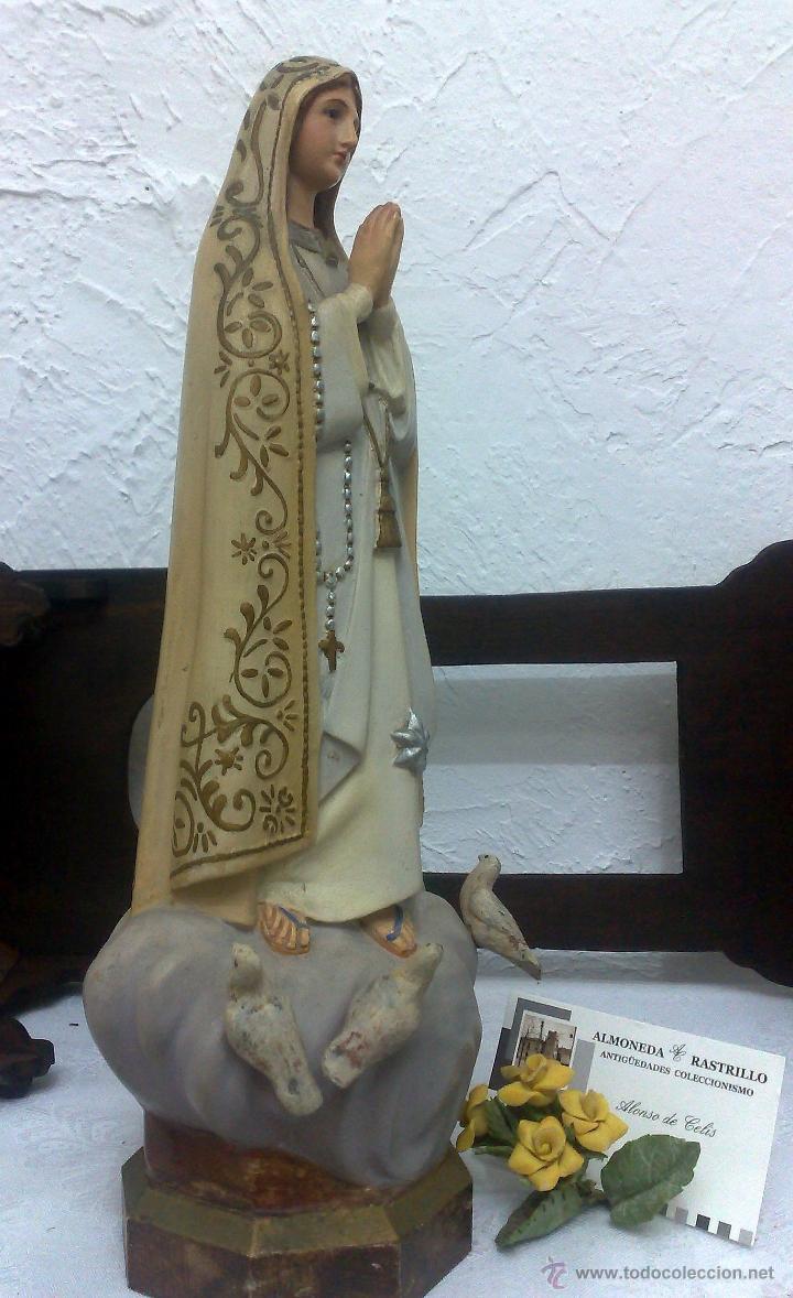 Arte: VIRGEN DE FATIMA. PRECIOSA IMAGEN DE LA VIRGEN CON SU CAPILLA EN MADERA. - Foto 23 - 40652237