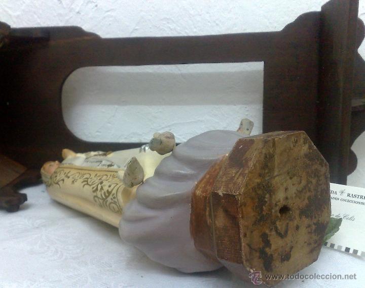 Arte: VIRGEN DE FATIMA. PRECIOSA IMAGEN DE LA VIRGEN CON SU CAPILLA EN MADERA. - Foto 28 - 40652237