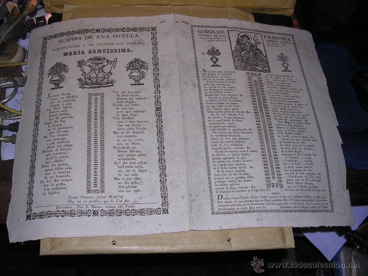 GOIGS DE LA DIVINA PASTORA DE LAS ANIMAS MARIA SANTISIMA PATRONA D LAS MISIONES DELS PARES CAPUTXINS (Arte - Arte Religioso - Grabados)