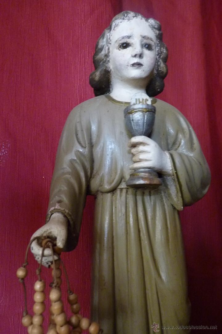 Arte: IMAGEN RELIGIOSA PRECIOSA TALLA EN MADERA NIÑO JESÚS CON CÁLIZ ANTIGUA - Foto 6 - 44255832