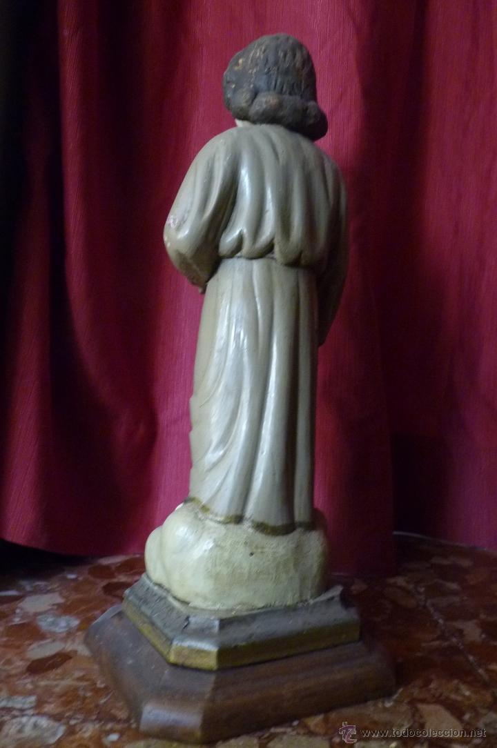 Arte: IMAGEN RELIGIOSA PRECIOSA TALLA EN MADERA NIÑO JESÚS CON CÁLIZ ANTIGUA - Foto 7 - 44255832