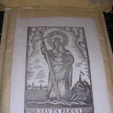 Arte: ANTIGUO GRABADO SANTA ELENA , S. XIX MANRESA POR PABLO ROCA , - 32X22 CM. . Lote 40803790