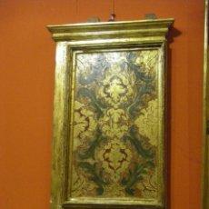 Arte: DOS TABLAS EN ORO FINO, ESPOLINADO DEL SIGLO XVIII. Lote 40826215