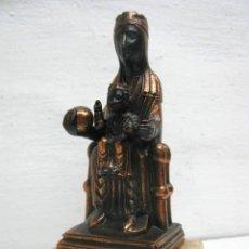 Arte: ANTIGUA Y BELLA VIRGEN MORENETA CON PEDESTAL DE PIEDRA. Lote 40838365
