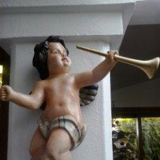Arte: ANGEL POLICROMADO DE MADERA. Lote 40846753