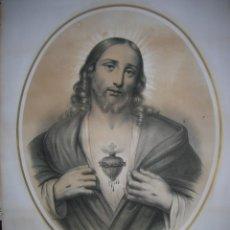 Arte: LITOGRAFIA GRAN TAMAÑO SIGLO XIX. Lote 40919591