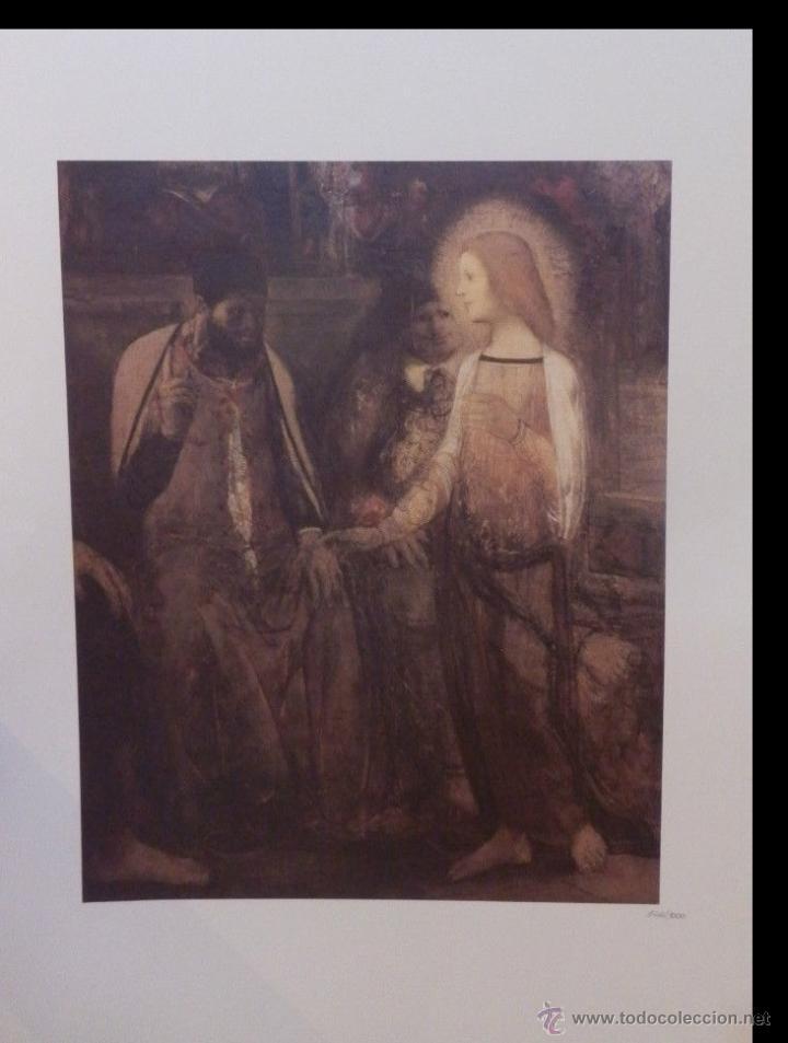 LITOGRAFIA DE GEORGES ROUAULT EL NIÑO JESÚS CON EL MEDICO AÑOS 80 CON CERTIFICADO EDICION LIMITADA (Arte - Arte Religioso - Litografías)