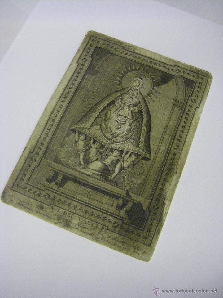 Arte: último Grabado Nuestra Señora del Valle ciudad de Écija (Sevilla), plancha original del siglo XVIII - Foto 3 - 107256812