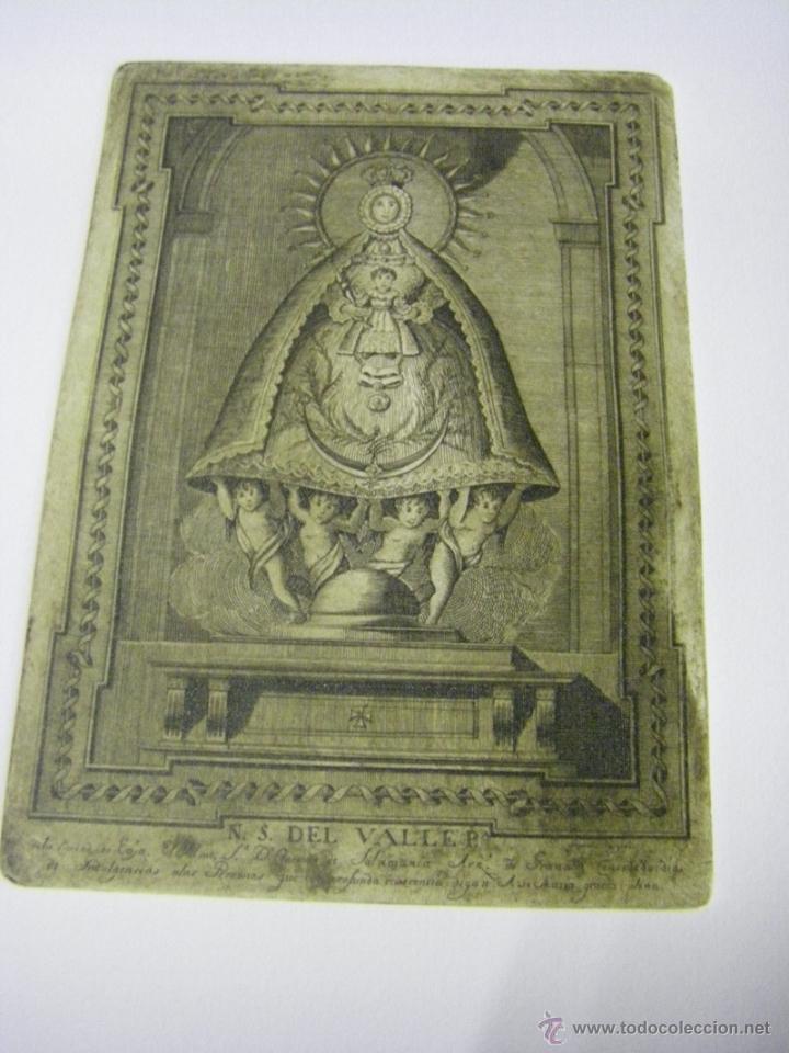 Arte: último Grabado Nuestra Señora del Valle ciudad de Écija (Sevilla), plancha original del siglo XVIII - Foto 5 - 107256812