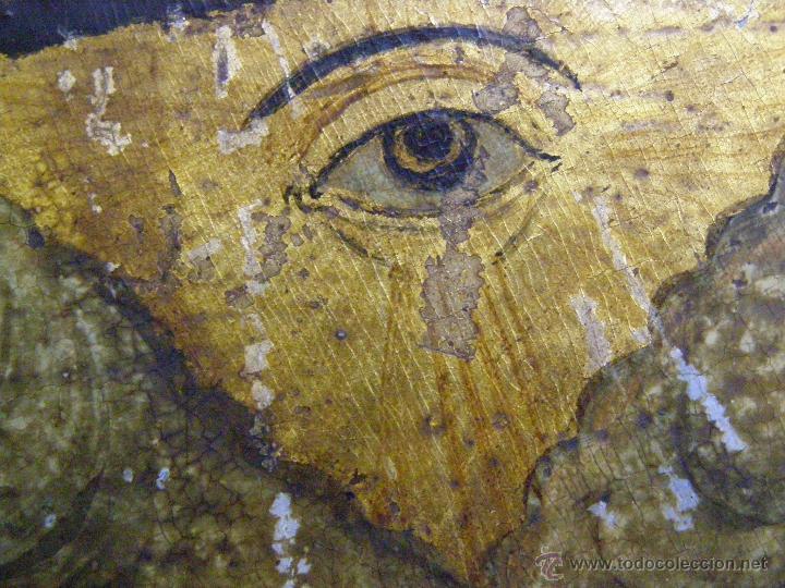 Arte: BELLISIMA ANUNCIACION.ICONO PINTADO EN TABLA.TEMPERA. GRECIA PRINCIPIOS SIGLO XIX. - Foto 10 - 12112569