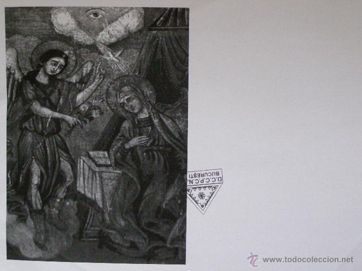 Arte: BELLISIMA ANUNCIACION.ICONO PINTADO EN TABLA.TEMPERA. GRECIA PRINCIPIOS SIGLO XIX. - Foto 31 - 12112569