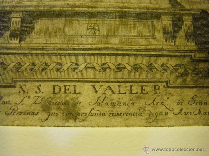 Arte: último Grabado Nuestra Señora del Valle ciudad de Écija (Sevilla), plancha original del siglo XVIII - Foto 8 - 107256812