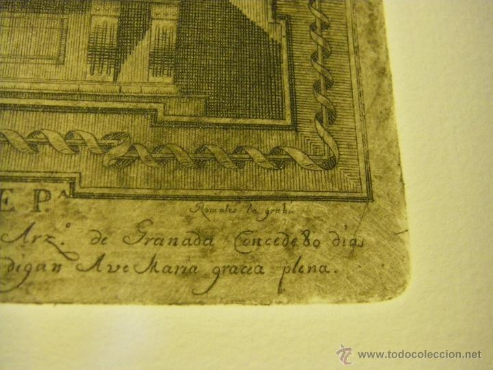 Arte: último Grabado Nuestra Señora del Valle ciudad de Écija (Sevilla), plancha original del siglo XVIII - Foto 9 - 107256812