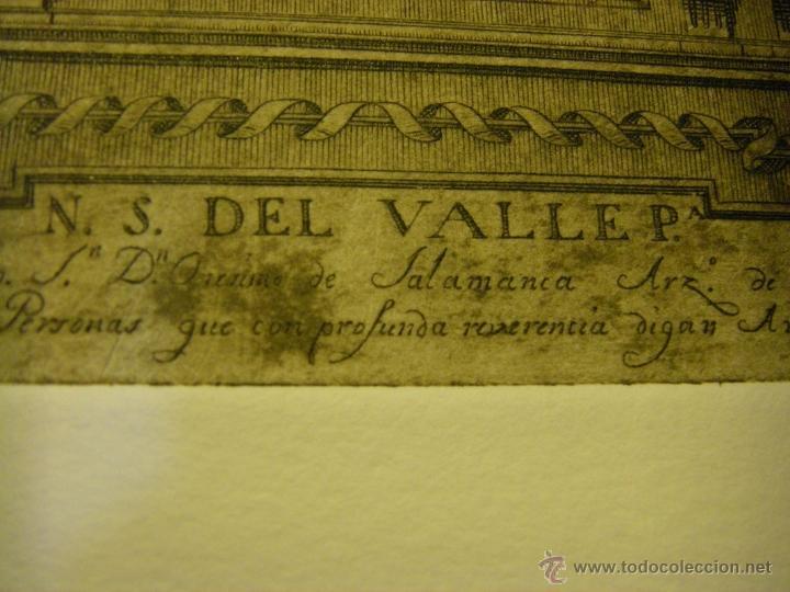 Arte: último Grabado Nuestra Señora del Valle ciudad de Écija (Sevilla), plancha original del siglo XVIII - Foto 10 - 107256812