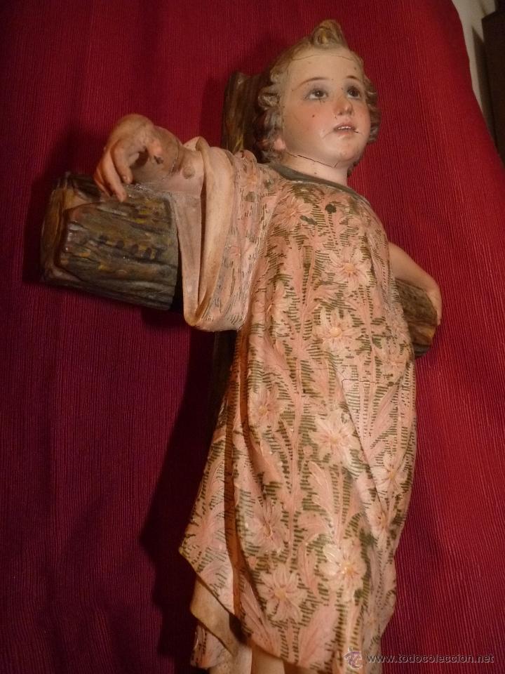 Arte: IMAGEN RELIGIOSA, BELLÍSIMO NIÑO JESÚS SOBRE CRUZ, DE OLOT GRAN TAMAÑO - Foto 4 - 86965199