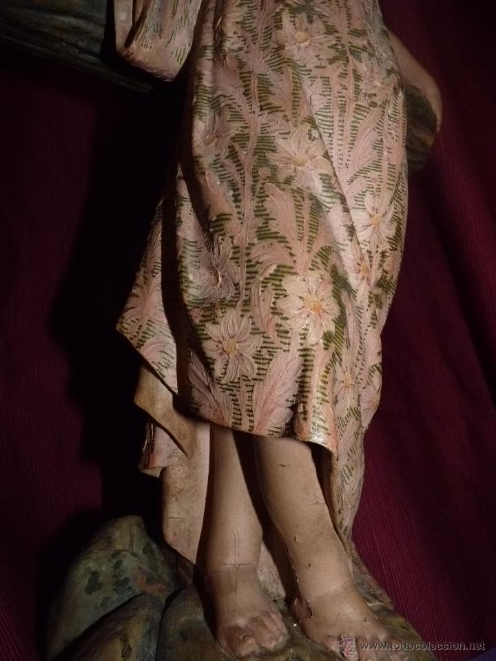Arte: IMAGEN RELIGIOSA, BELLÍSIMO NIÑO JESÚS SOBRE CRUZ, DE OLOT GRAN TAMAÑO - Foto 9 - 86965199