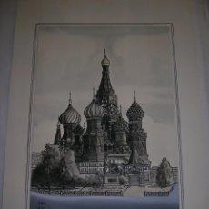 Arte: CATEDRAL DE SAN PABLO DE MOSCÚ, IGLESIA ORTODOXA, ACUARELA SOBRE PAPEL. Lote 41051353