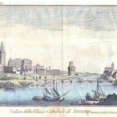 Arte: GRABADO,VEDUTA DELLA CHIESA CATTEDRALE DI SIVIGLIA (SEVILLA),SIGLO XVIII,220X170MM. Lote 41118326