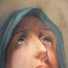 Arte: OLEO VIRGEN DOLOROSA O DE LOS DOLORES FIRMADA JUAN MARQUEZ 1895 A PARTIR GRABADO GUIDO RENI. Lote 41123789