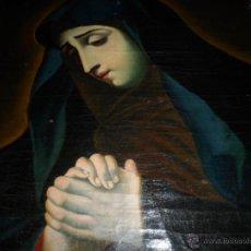 Arte: ANTIGUO OLEO DE LA VIRGEN MARIA: SIGLO 18 [TELA MUY ANTIGUA]. Lote 41173093