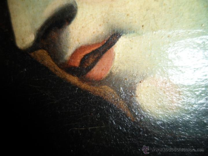 Arte: Antiguo oleo de la Virgen Maria: Siglo 18 [tela muy antigua] - Foto 11 - 41173093
