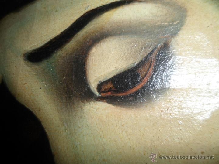 Arte: Antiguo oleo de la Virgen Maria: Siglo 18 [tela muy antigua] - Foto 12 - 41173093